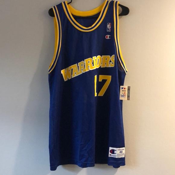 7808b277d7a Vintage Chris Mullen Warriors Champion Jersey NBA